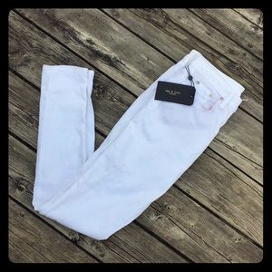 Rag and Bone White Denim Jeans